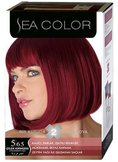 Sea Sea Color 2 Li Saç Boyası 5-65 Kırmızı